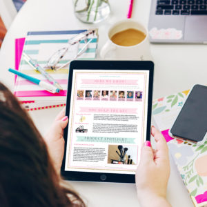 Customizable Mary Kay Unit Newsletters